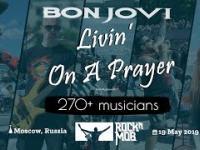 """Rosyjscy muzycy witają zespół Bon Jovi przebojem """"Livin' On A Prayer"""""""