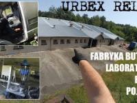 Dobrze zachowana fabryka butelek, laboratoria, biura, pojazdy