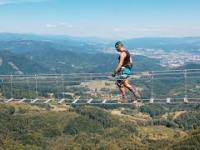Na Słowacji otwarto most linowy nad przepaścią