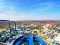 Widok z wagonika na Speed Water Coaster w Energylandii