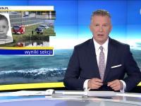 Reporter Faktów TVN parkuje na drodze ekspresowej