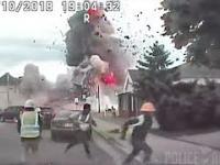 Wybuch gazu zarejestrowany przez kamery policyjne