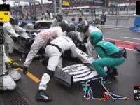 Chaotyczny Pit Stop w wykonaniu Mercedesa podczas GP Niemiec