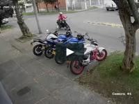 Sprytna kradzież na motocyklu