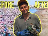 Niesamowita transformacja najbardziej zaludnionej plaży