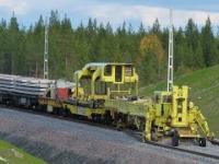 Najdłuższa na świecie maszyna do układania torów
