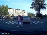 Przejście przez samochód