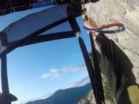 Nieudany skok spadochronowy z Monte Brento w Włoszech!