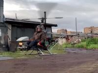 Rosyjski emeryt zbudował sobie helikopter
