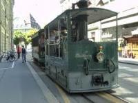 Parowy tramwaj na torach Berna
