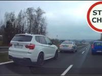 Szeryf w Audi blokuje Szeryfa w BMW