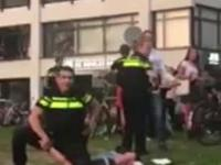 Pijani studenci vs holenderska policja