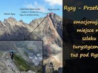 Najbardziej eksponowane miejsce na szlaku na Rysy