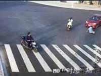 Kiedy szczeniak uczy cię jak prawidłowo przechodzić przez jezdnię