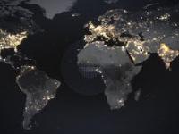 Nocny satelitarny obraz Ziemi
