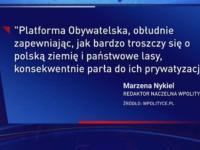 Materiał o grzybobraniu w głównym wydaniu Wiadomości TVP