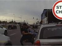 Atak na kierowcę Kii w Warszawie
