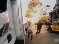 Wybuch w Korei - niemal jak w filmie hollywoodzkim