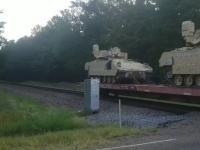 Amerykańska armia gubi wozy bojowe w Teksasie