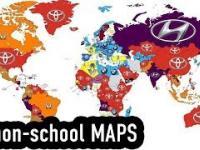 5 nieoczekiwanych map, które nigdy nie pojawiają się w szkole