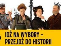 Skłodowska-Curie, Piłsudski, Kopernik i Zygmunt Stary zachęcają do pójścia na wybory