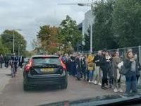 Kolejka do głosowania w Amsterdamie