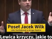 Jacek Wilk w sejmie celnie podsumowuje program 500+