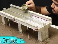 Betonowy model małego mostu