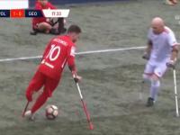 Elastico w wykonaniu polskiego reprezentanta Ampfutbolu