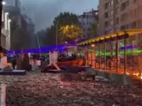 Protestujący w Chile oślepiają policje laserami