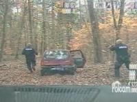 Policyjny pościg za tico i zatrzymanie z bronią w ręku