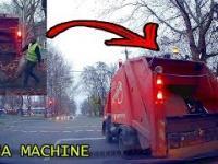Jak to działa Ciężarówka przewozi opadłe liście, śmieci