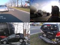 Pijany kierowca staranował inny samochód stojący na ulicy!