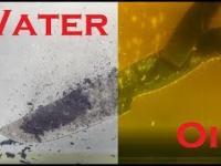 Trollskyy pokazuje różnicę między wkładaniem stali do wody i oleju