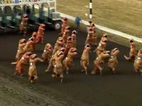 Emocjonujący  i trzymający w napieciu wyścig T-Rexów