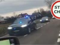 Policja i SOP spycha z drogi DK74