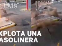 Wybuch zbiornika z paliwem na stacji benzynowej