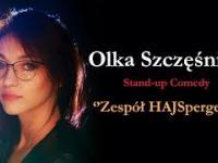 Olka Szczęśniak w stand-upie zespół HajSpergera