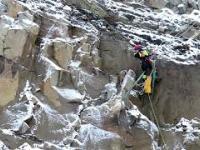 Ewakuacja kozy z półki skalnej