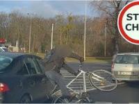 Potrącenie rowerzysty we Wrocławiu