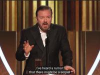 Ricky Gervais zmasakrował hipokryzję Hollywood podczas monologu na otwarciu Złotych Globów