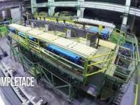Produkcja ogromnego autotransformatora o mocy 350/100 MVA i napięciu 420/10,5 kV