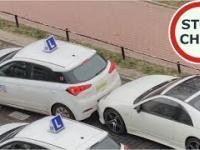 Kolizja podczas egzaminu na prawo jazdy i ucieczka egzaminatora