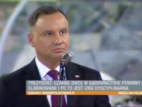 Andrzej Duda - teatralne przemówienie i agresja