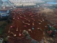 Chińczycy ekspresowo budują szpital polowy w Wuhan