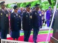 Policja z Południowej Afryki na oficjalnej uroczystości