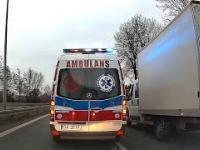 Nietypowa interwencja ambulansu