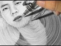Portret za pomocą cyrkla