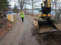 Przebudowa kilku fragmentów drogi z wykorzystaniem głowicy wychylno-obrotowej.