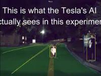 Projektor zawieszony na dronie sprawił, że Tesla zmieniła swój pas na przeciwny